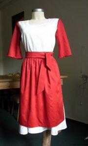 kleid weiß rot 1