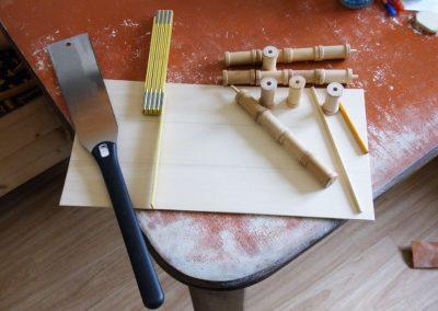 Recycling der schönen Holzgarnrollen
