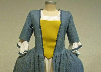 Barock-Kleid aus Bio-Stoffen